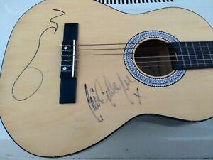 Noel & Liam Gallagher OASIS signed Acoustic Guitar + COA