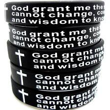 5pcs Serenity Prayer Silicone Bracelets Men Fashion Wristbands