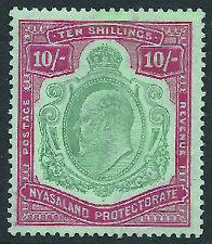 NYASALAND 1908 10s green and red on green - 11016