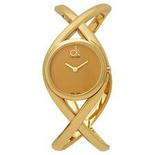 Calvin Klein Enlace Gold Dial Ladies Watch K2L23509