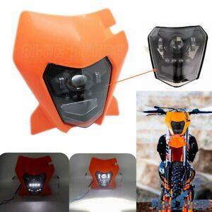 LED Headlight MX Motocross Headlamp 12V 6000k For EXC / ECX-F 250-350-450-500