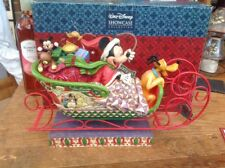"""rare disney tradition 'large xmas sleigh-laughing all the way' 14"""" long boxed"""