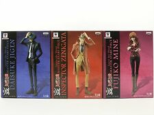 Anime Lupin The Third Figure Fujiko Zenigata Jigen Set of 3 MASTER STARS PIECE