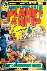 ** Adventures on the PLANET of the APES  5 (NM 9.6/9.8) DOUBLE COVER White Pages