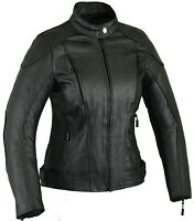 Impact Ladies Leather Motorbike Protection Jacket Womens Motorcycle Wears CE