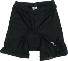 Insport Women's Padded Bike Cycling Shorts Large Black Stretch Spell Out Logo