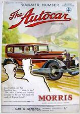 The AUTOCAR 30 Jun 1933 Original Motoring Car Magazine Renault Speed 4, Hillman
