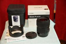 Sigma 35mm F1.4 DG Art für Sony, A-Mount, geprüft aus Erstbesitz mit Rechnung