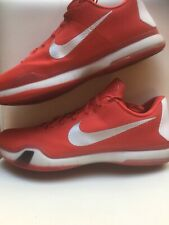 Nike Kobe X 10 TB Basketball Shoes Gym Red Silver White Sz 18 813030-602 Mamba