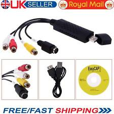 Video Capture Card Easycap VHS to DVD Converter 2.0 USB Audio Adapter UK Store