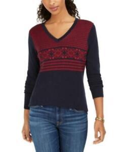 MSRP $70 Tommy Hilfiger Fair Isle Ivy Cotton Sweater Size Medium