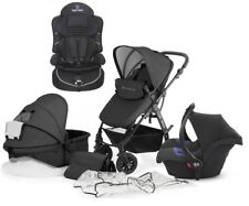 Kinderkraft Moov Travel System in Graphite Grey and 2nd Stage Car in Black