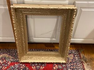 Victorian Gilt Gesso Wooden picture frame Hudson River School Painting deep big