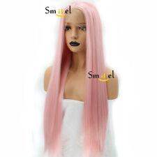 Pink Synthetic Lace Front Wig Long Straight Full Hair Sakura Haruno Cosplay Wigs