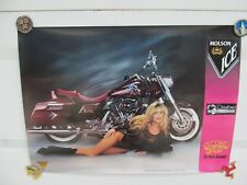 HARLEY DAVIDSON MOLSON ICE BIKE WEEK DAYTONA BEACH VINTAGE 1990'S POSTER NEW
