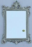 Miroir Baroque Argent Antique Rectangulaire 36x24cm Magnifique Shabby Rococo