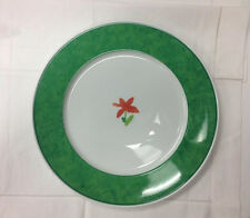 """HUTSCHENREUTHER """"ALEO PUNTO"""" GREEN SERVICE PLATE 12 1/2"""" PORCELAIN NEW  GERMANY"""