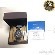 SEIKO SPIRIT SBPJ003 Men's Watch Solar Chronograph Silver Blue Made in Japan New