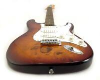Strat Electric Guitar - Sunburst Burl Maple Wood