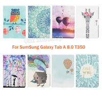 Painting Leather Flip Smart Case Stand Cover for Samsung Galaxy Tab A 8.0 T350