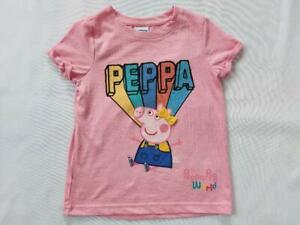 Girls Peppa Pig World Design Children T-Shirt Top Short Sleeve Sizes 1-5 Years