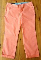 BANANA REPUBLIC Orange Stretch Ryan Fit Crop Pants Size 14 BNWT