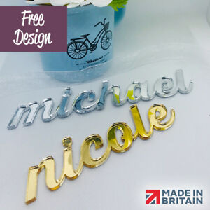 Laser Cut Mirror Acrylic Name Placecards