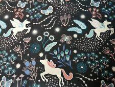 Cuarto gordo tela de algodón acolchado Lewis Y Noches De Hadas Irene resplandor Unicornios