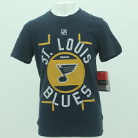 St. Louis Blues Official NHL Reebok Apparel Kids Youth Size T-Shirt New Tags