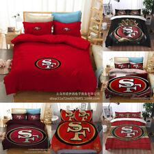 San Francisco 49ers Comforter Cover Quilt Cover Pillowcases Bedding Set 3PCS
