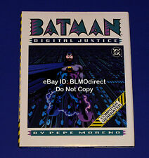 1990 Batman Digital Justice #1 Signed by Pepe Moreno w/ CoA 1st Print HC