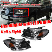 For MITSUBISHI Outlander 2003-2005 Set Left & Right Front Head lamps