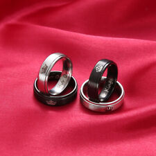 Lovers Couple Ring His Queen and Her King Stainless Steel Couple Jewelry Gift