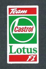 Vintage Sticker - Team Castrol Lotus F1 - Johnny Herbert, Alessandro Zanardi