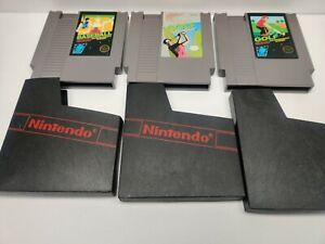Lot Of 3 Baseball Golf - Golf Bandai (Nintendo Entertainment System, NES 1985)
