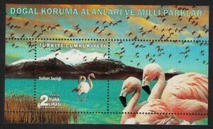 Turkey Flamingo Birds MS 2018 MNH