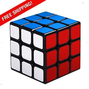 Rubiks Cube 3x3 Original Brain Teaser Puzzle Strategy w/ Stand for Kids
