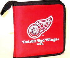 DETROIT RED WINGS CD/DVD/GAME OR VIDEO STORAGE CARRYING CASE NHL ORGANIZER BAG
