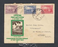 Australia 1937 New South Wales Sesqui-Centenary First Day Cover Fdc Sydney
