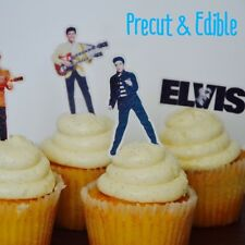 24 x Elvis cupcake topper,Elvis cupcake decoration,Elvis cake image,edible image