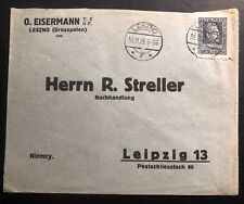 1929 Leszno Poland Commercial Printed Matter cover To Leipzig Germany
