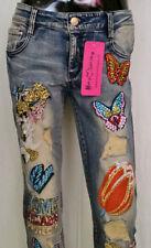Hosengröße 40 Distressed Damen-Jeans aus Denim