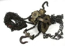Yale 12 Ton Manual Chain Hoist Screw Geared Block