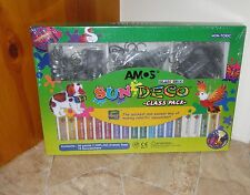 AMOS Glass Deco Decoration Art - class-pack of 34 Keychains & Paints ON SALE NOW