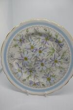 Tuscan Side Plate Edelweiss Flowers 18 cm Fine Bone China Vintage British
