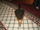 Vintage Spanish Fireplace Bellow-Carved Wood-Knights-Coat Of Arms-Pigot-LQQK