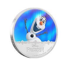 Niue Disney $2 Dollars, 1 oz. Silver Proof Coin,2016,Mint,Frozen Olaf Magic,QEII