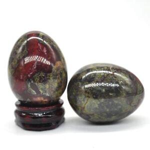 Dragon Blood Stone Egg Sphere Natural Gemstone Healing Crystal Specimen Rock