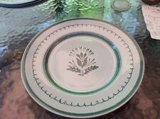 HANDPAINTED DINNER PLATE VINTAGE ARABIA FINLAND CHINA GREEN THISTLE FLOWER