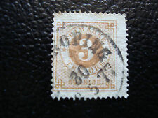 SUEDE - timbre yvert et tellier n° 16B obl(2eme choix dechirure(A9) stamp sweden